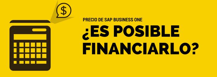 ¿El precio de SAP Business One puede ser financiado? - Avantis