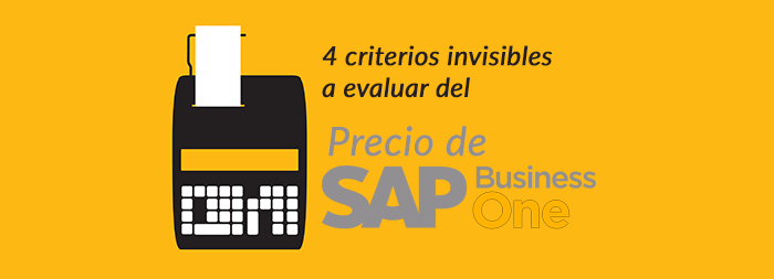 4 criterios invisibles a evaluar del precio de SAP Business One